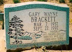 BRACKETT, GARY WAYNE - Dolores County, Colorado   GARY WAYNE BRACKETT - Colorado Gravestone Photos