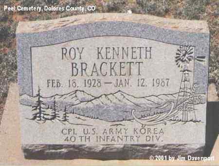 BRACKETT, ROY KENNETH - Dolores County, Colorado | ROY KENNETH BRACKETT - Colorado Gravestone Photos