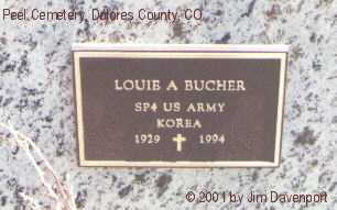 BUCHER, LOUIE A. - Dolores County, Colorado | LOUIE A. BUCHER - Colorado Gravestone Photos