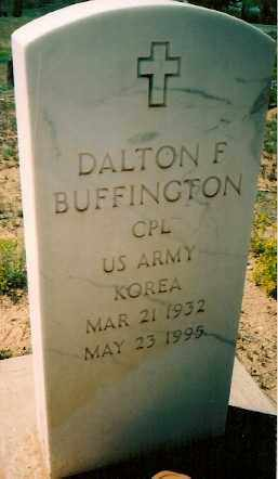 BUFFINGTON, DALTON F - Dolores County, Colorado | DALTON F BUFFINGTON - Colorado Gravestone Photos