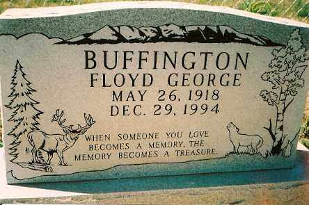 BUFFINGTON, FLOYD GEORGE - Dolores County, Colorado | FLOYD GEORGE BUFFINGTON - Colorado Gravestone Photos