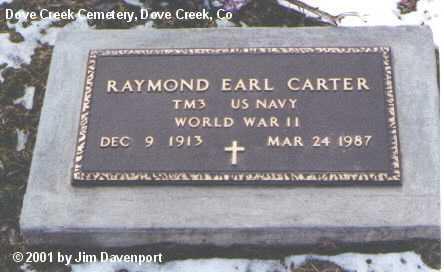CARTER, RAYMOND EARL - Dolores County, Colorado | RAYMOND EARL CARTER - Colorado Gravestone Photos