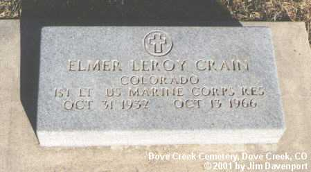 CRAIN, ELMER LEROY - Dolores County, Colorado | ELMER LEROY CRAIN - Colorado Gravestone Photos