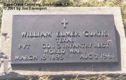 CURTIS, WILLIAM ELMER - Dolores County, Colorado | WILLIAM ELMER CURTIS - Colorado Gravestone Photos