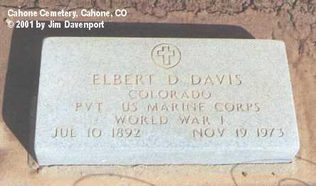 DAVIS, ELBERT D. - Dolores County, Colorado | ELBERT D. DAVIS - Colorado Gravestone Photos