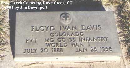 DAVIS, FLOYD IVAN - Dolores County, Colorado | FLOYD IVAN DAVIS - Colorado Gravestone Photos