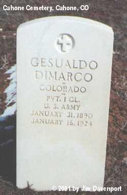 DIMARCO, GESUALDO - Dolores County, Colorado | GESUALDO DIMARCO - Colorado Gravestone Photos