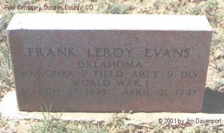 EVANS, FRANK LEROY - Dolores County, Colorado | FRANK LEROY EVANS - Colorado Gravestone Photos