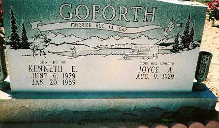 GOFORTH, JOYCE ALEENE - Dolores County, Colorado | JOYCE ALEENE GOFORTH - Colorado Gravestone Photos