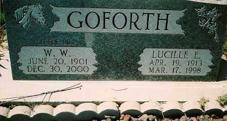 GOFORTH, LUCILLE ELLEN - Dolores County, Colorado | LUCILLE ELLEN GOFORTH - Colorado Gravestone Photos