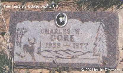 GORE, CHARLES W. - Dolores County, Colorado   CHARLES W. GORE - Colorado Gravestone Photos