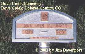 GORE, MELBORN T. - Dolores County, Colorado | MELBORN T. GORE - Colorado Gravestone Photos