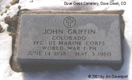 GRIFFIN, JOHN - Dolores County, Colorado | JOHN GRIFFIN - Colorado Gravestone Photos