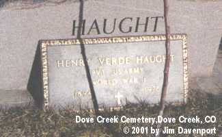 HAUGHT, HENRY VERDE - Dolores County, Colorado | HENRY VERDE HAUGHT - Colorado Gravestone Photos