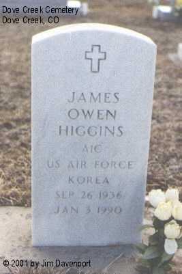 HIGGINS, JAMES OWEN - Dolores County, Colorado | JAMES OWEN HIGGINS - Colorado Gravestone Photos