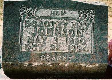 JOHNSON, DOROTHY MAY - Dolores County, Colorado   DOROTHY MAY JOHNSON - Colorado Gravestone Photos
