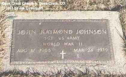JOHNSON, JOHN RAYMOND - Dolores County, Colorado | JOHN RAYMOND JOHNSON - Colorado Gravestone Photos