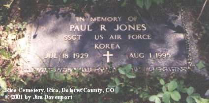 JONES, PAUL R. - Dolores County, Colorado | PAUL R. JONES - Colorado Gravestone Photos
