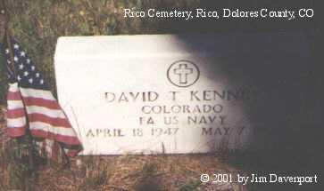 KENNEY, DAVID T. - Dolores County, Colorado | DAVID T. KENNEY - Colorado Gravestone Photos