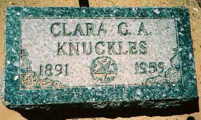 KNUCKLES, CLARA CATHERINE ANN - Dolores County, Colorado | CLARA CATHERINE ANN KNUCKLES - Colorado Gravestone Photos