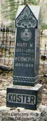 KOSTER, WERNER H. - Dolores County, Colorado | WERNER H. KOSTER - Colorado Gravestone Photos