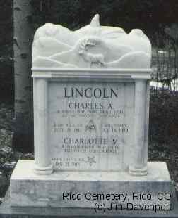 LINCOLN, CHARLES A. - Dolores County, Colorado | CHARLES A. LINCOLN - Colorado Gravestone Photos