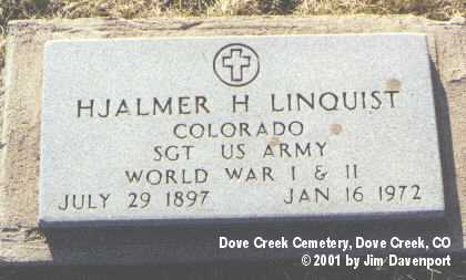 LINQUIST, HJALMER H. - Dolores County, Colorado | HJALMER H. LINQUIST - Colorado Gravestone Photos