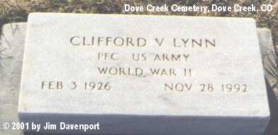 LYNN, CLIFFORD V. - Dolores County, Colorado | CLIFFORD V. LYNN - Colorado Gravestone Photos