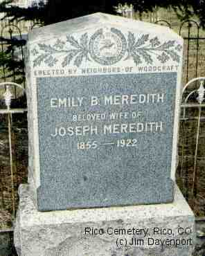 MEREDITH, EMILY B. - Dolores County, Colorado | EMILY B. MEREDITH - Colorado Gravestone Photos