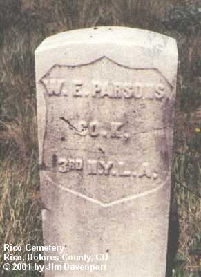 PARSONS, W.E. - Dolores County, Colorado | W.E. PARSONS - Colorado Gravestone Photos