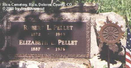 PELLET, ELIZABETH E. - Dolores County, Colorado | ELIZABETH E. PELLET - Colorado Gravestone Photos