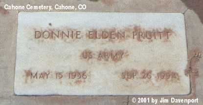 PRUITT, DONNIE ELDEN - Dolores County, Colorado | DONNIE ELDEN PRUITT - Colorado Gravestone Photos