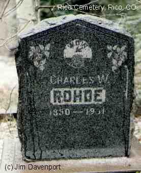 ROHDE, CHARLES W. - Dolores County, Colorado | CHARLES W. ROHDE - Colorado Gravestone Photos