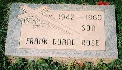 ROSE, FRANK DUANE - Dolores County, Colorado | FRANK DUANE ROSE - Colorado Gravestone Photos