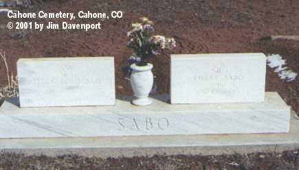 SABO, STELLA FORIS - Dolores County, Colorado | STELLA FORIS SABO - Colorado Gravestone Photos