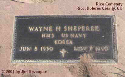 SHEPEREK, WAYNE H. - Dolores County, Colorado | WAYNE H. SHEPEREK - Colorado Gravestone Photos