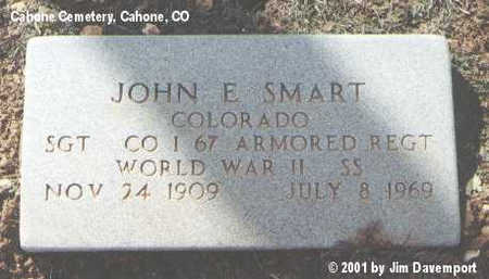 SMART, JOHN E. - Dolores County, Colorado | JOHN E. SMART - Colorado Gravestone Photos