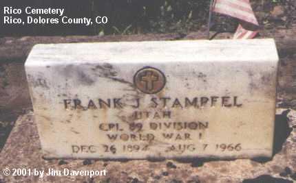 STAMPFEL, FRANK J. - Dolores County, Colorado   FRANK J. STAMPFEL - Colorado Gravestone Photos