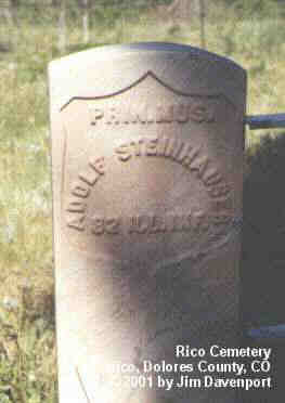 STEINHAUSER, ADOLF - Dolores County, Colorado | ADOLF STEINHAUSER - Colorado Gravestone Photos