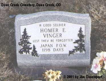 VINGER, HOMER V. - Dolores County, Colorado | HOMER V. VINGER - Colorado Gravestone Photos