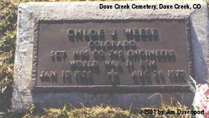 WEESE, CHLOE J. - Dolores County, Colorado | CHLOE J. WEESE - Colorado Gravestone Photos