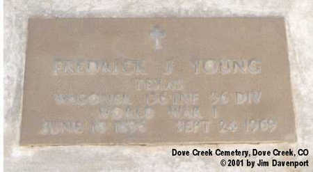 YOUNG, FREDRICK J. - Dolores County, Colorado | FREDRICK J. YOUNG - Colorado Gravestone Photos