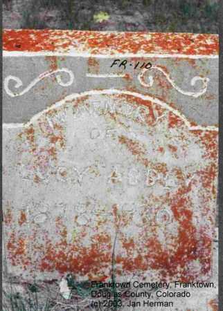 ABBEY, LUCY - Douglas County, Colorado | LUCY ABBEY - Colorado Gravestone Photos