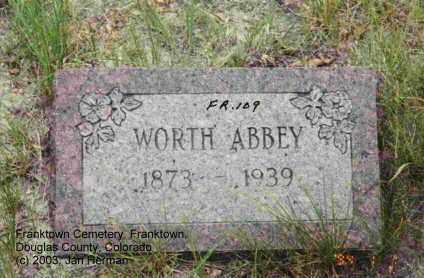 ABBEY, WORTH - Douglas County, Colorado | WORTH ABBEY - Colorado Gravestone Photos