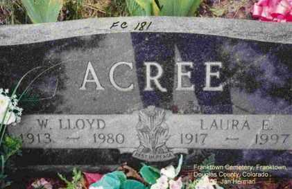 ACREE, W. LLOYD - Douglas County, Colorado | W. LLOYD ACREE - Colorado Gravestone Photos