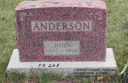 ANDERSON, JOHN - Douglas County, Colorado | JOHN ANDERSON - Colorado Gravestone Photos