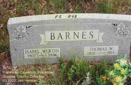 BARNES, ISABEL - Douglas County, Colorado | ISABEL BARNES - Colorado Gravestone Photos