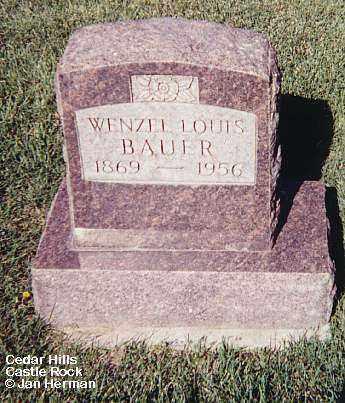 BAUER, WENZEL LOUIS - Douglas County, Colorado | WENZEL LOUIS BAUER - Colorado Gravestone Photos