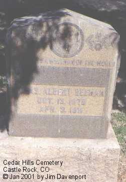 BEEMAN, CHAS. ALBERT - Douglas County, Colorado | CHAS. ALBERT BEEMAN - Colorado Gravestone Photos