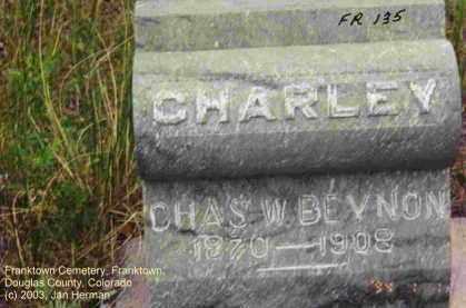 BEYNON, CHARLES W. [CHARLEY] - Douglas County, Colorado | CHARLES W. [CHARLEY] BEYNON - Colorado Gravestone Photos